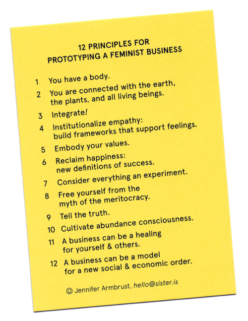 12 principles for a feminist economy to promote care